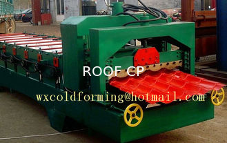 Chiny PLC Control Glazed Tile Roll Forming Machine 18 Stations Color Steel Sheet dostawca