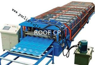Chiny Glazed Tile Roll Forming Machine for Color Steel Tile , Roof Wall Cladding , Wave Tile dostawca