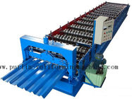 Best PLC Steel Metal Roof Panel Roll Forming Machine , Roofing Sheet Roll Former 5 Ton for sale